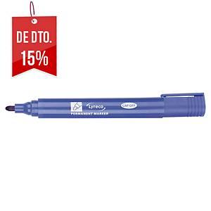 Marcador permanente Lyreco - ponta cónica 1-2 mm - azul