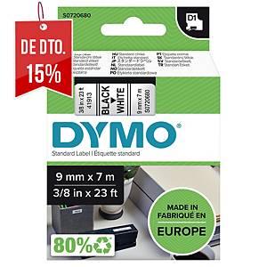 Fita Dymo D1 - 9mm - poliéster - texto preto/fundo branco