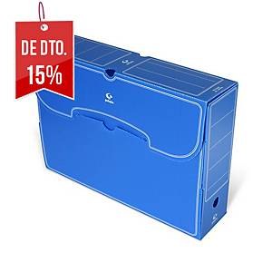 Caixa de arquivo morto Grafoplás - fólio - lombada 260 mm - azul