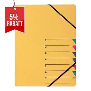 Ordnungsmappe Pagna 24061, 7 Fächer, mit Gummizug, gelb
