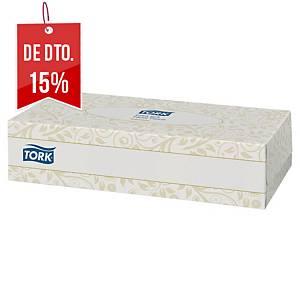 Caixa 100 toalhetes faciais Tork - 20 x21 cm - Folha dupla