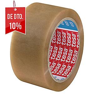 Fita de embalar transparente, silenciosa PVC TESA. Dim: 66 m x 50 mm