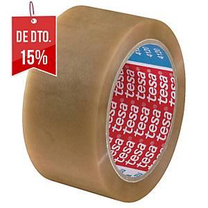 Fita adesiva extraforte de embalar Tesa - 50 mm x 66 m - PVC - transparente