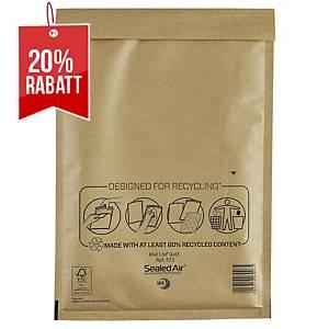SealedAir Mail Lite® Luftpolstertasche Gold, 220 x 330 mm, braun, 50 Stück