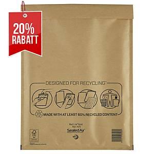 SealedAir Mail Lite® Luftpolstertasche Gold, 270 x 360 mm, braun, 50 Stück