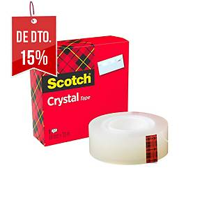 Fita adesiva transparente Scotch Crystal - 19 mm x 33 m