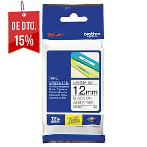 Fita Brother TZe-231 - 12 mm - PE - texto preto/fundo branco