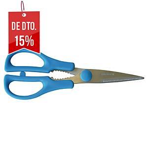 Tesoura para ambidestros Lyreco - 21cm - azul