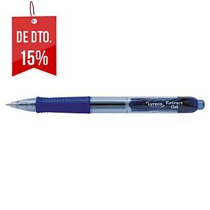 Caneta retrátil gel Lyreco Premium - azul