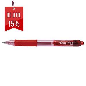 Caneta retrátil gel Lyreco Premium - vermelho