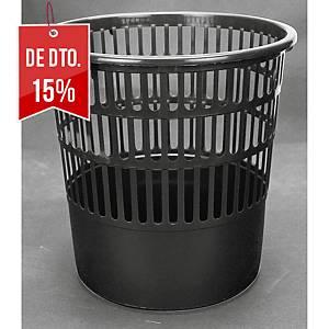 Caixote do lixo perfurado Fabio - plástico - 16 L - preto