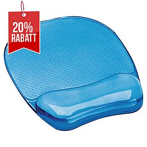 Mauspad mit Handballenauflage Fellowes Crystal gelgefüllt blau