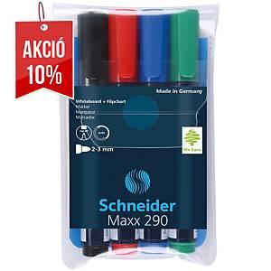 Schneider Maxx 290 fehértábla merker szett, 4 szín