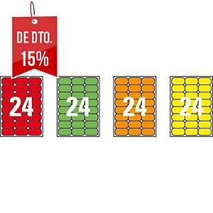 Caixa 480 etiquetas autocolantes Apli 02873 - 64 x 33,9 mm - verde fluor