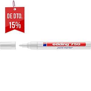 Marcador de pintura Edding 750 - ponta cónica 2-4 mm - branco