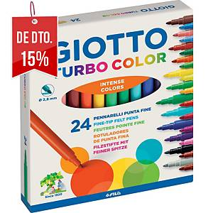 Caixa de 24 marcadores GIOTTO turbo cores sortidas
