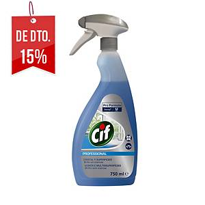 Limpa-vidros e multissuperfícies Cif Profissional em spray - 750 ml