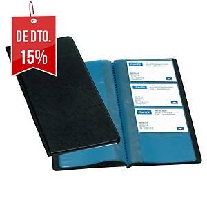 Porta-cartões Elba Classique - 255x125mm - 96 cartões - preto