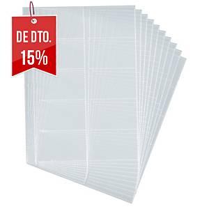 Recarga de 10 micas porta-cartões Durable Visifix Centium - 200 cartões
