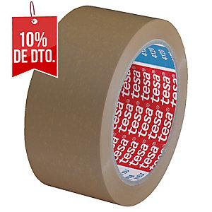 Cinta de embalar marrón, silenciosa PVC TESA de 66 m x 50 mm