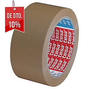 Fita de embalar castanha, silenciosa PVC TESA. Dim: 66 m x 50 mm