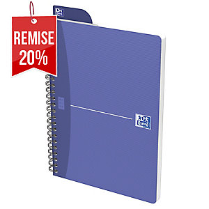 CARNET RELIURE INTEGRALE OXFORD OFFICE A5 100 PAGES QUADRILLE 5 X 5 SPIRAL
