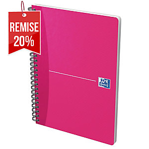 CARNET RELIURE INTEGRALE OXFORD OFFICE A5 180 PAGES QUADRILLE 5 X 5 SPIRAL 2204