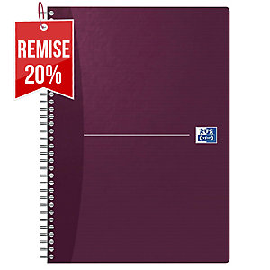 CAHIER OXFORD OFFICE   THE ESSENTIALS   A4 180 PAGES QUADRILLE 5 X 5 SPIRAL