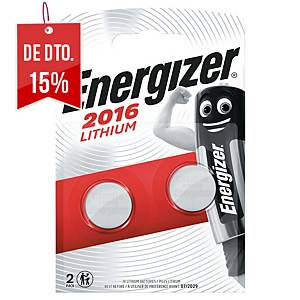 Pack de 2 pilhas-botão de lítio Energizer CR2016- 3 V