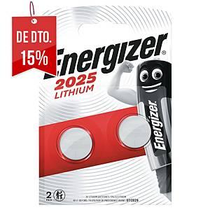Pack de 2 pilhas-botão de lítio Energizer CR2025- 3 V