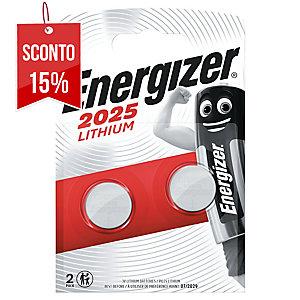 BATTERIE AL LITIO ENERGIZER PER CALCOLATRICI CR2025 3V 2,50MM - CONF. 2