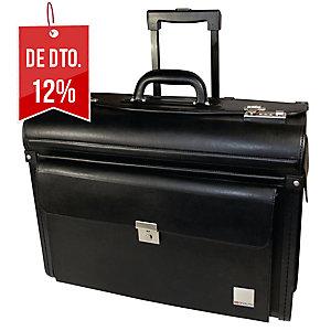 Bolsa piloto PVC cor preta c/rodasmASTERS LONDON Dimensões: 480 x 370 x 240mm