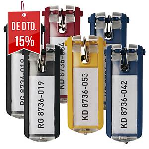Pack de 6 porta-chaves Durable Key Clip - sortido