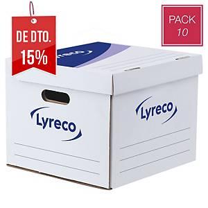 Caixa de arquivo Lyreco Easy Cube - lombada 350mm - branco/azul