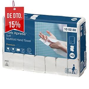 Pack 21 embalagens de toalhas de mãos Tork H2 - 110 folhas - W - Folha dupla