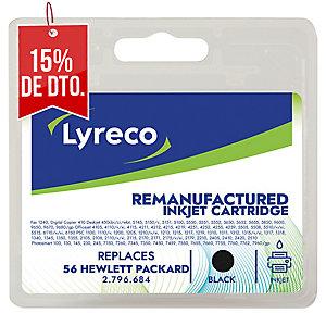 Cartucho de tinta LYRECO negro compatible con HP 56 para DeskJet 450/5500/9600