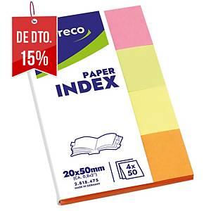 Marcador de páginas de papel Lyreco - sortido - 20 x 38 mm