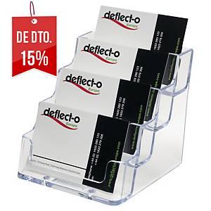 Expositor Deflecto - 4 compartimentos - transparente