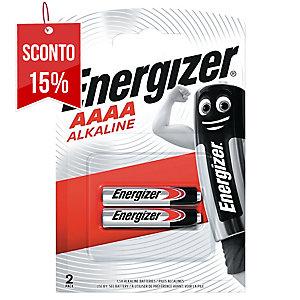 CONF. DA 2 BATTERIE ALCALINE ENERGIZER AAAA/MICROSTILO 1,5V