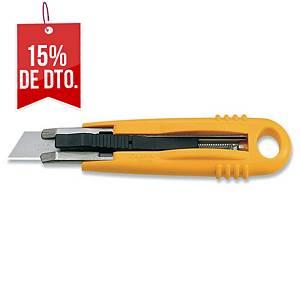 Cúter de seguridad Olfa SK4 - 18 mm - amarillo