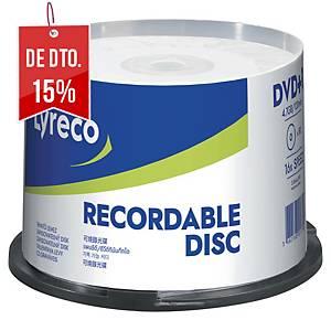 Pack de 50 DVD+R Lyreco - 4,7GB