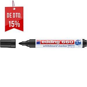 Marcador apagável Edding 660 - ponta cónica 1,5-3 mm - preto