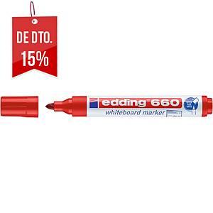 Marcador apagável Edding 660 - ponta cónica 1,5-3 mm - vermelho