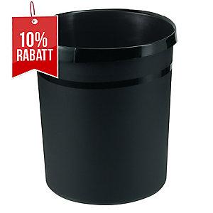 Papierkorb HAN Grip 18190, Fassungsvermögen: 18 Liter, schwarz