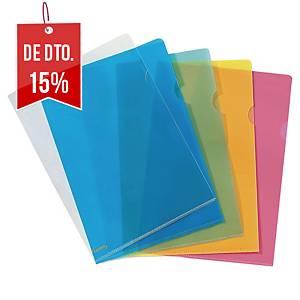 Pack de 25 pastas ranhura Lyreco Premium - A4 - PP - 130 µ - transparente