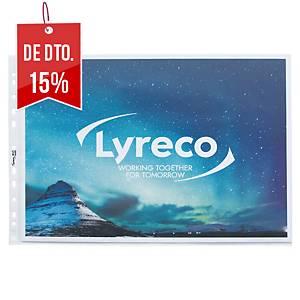 Pack de 10 micas com abertura superior Lyreco - A3 horizontal - PP - 80 µ