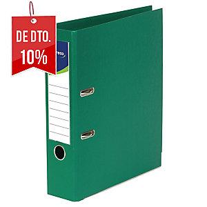 Arquivador de alavanca com capa em plástico lyreco folio/80 verde