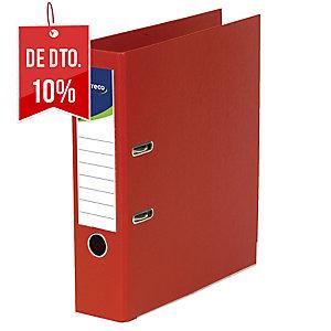 Dossier de alavanca com capa em plástico lyreco folio/80 vermelho