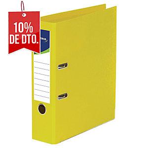 Archivador de palanca Lyreco - folio - lomo 80 mm - amarillo