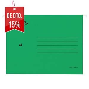 Pack 25 pastas suspensas Lyreco Premium - A4 - cartolina - lombada V - verde
